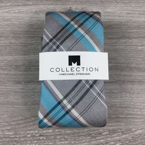 Collection by Michael Strahan Silver Plaid Tie